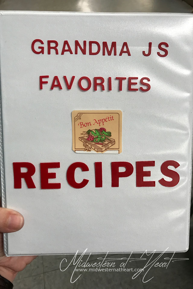 Grandma J's Favorite Recipes Cookbook