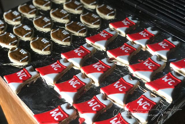 Football and Cheerleader Sugar Cookies.