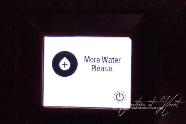 Keurig asking to add more water please