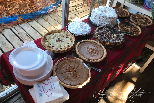 Desserts at my Father in Law's house - Thanksgiving 2017