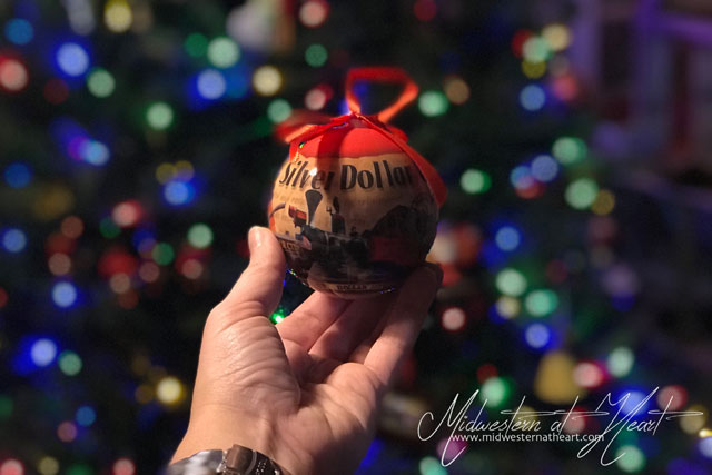 Silver Dollar City ornament from SDC